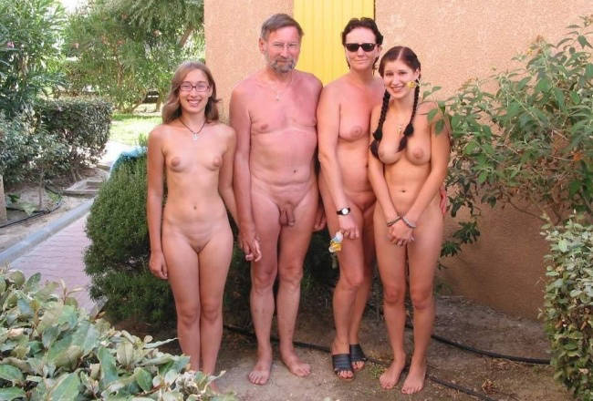 Nudist Family during France Vacation