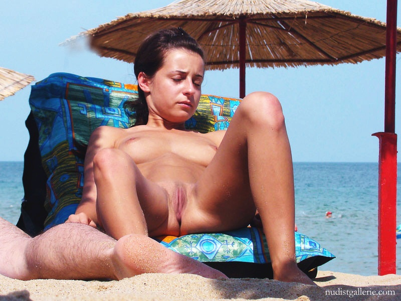 Flat chested mature tanned